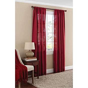 Amazon Com Mainstays Textured Solid Curtain Panel 38x84