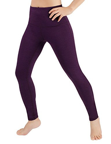 ODODOS Power Flex High-Waist Yoga Pants Tummy Control Workout Running Pant with Hidden Pocket,DeepPurple,XX-Large ()