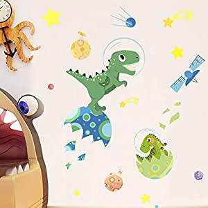 Holly LifePro Dinosaur Wall Decals Peel and Stick Wall Sticker for Home Bedroom Nursery Room Wall Decor Style-Four