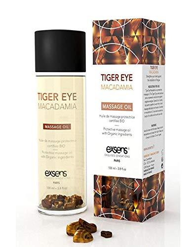 Exsens Of Paris Organic Massage Oil - Tiger Eye Macadamia W/stones by Exsens