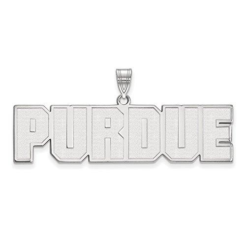 14k White Gold LogoArt Official Licensed Collegiate Purdue University (PU) Large Pendant by Logo Art