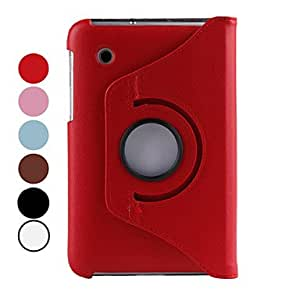 """PEACH-ships in 48 hours360 Degree Rotating PU 7"""" Case with Stand for Samsung Galaxy Tab P3100 (Assorted Colors) , White"""
