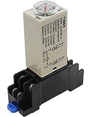 heschen temporizador retraso relé H3Y-212VDC 0–5minutos 250VAC 5A Terminal de 8pines DPDT con dyf0835mm riel DIN Socket Base