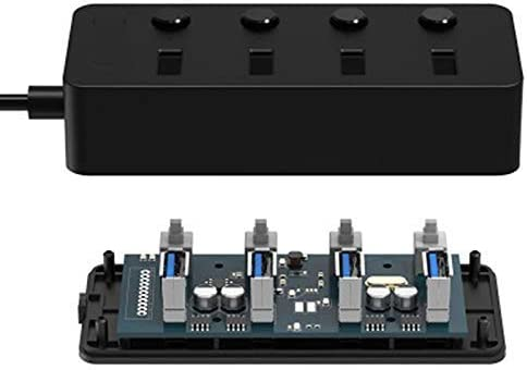 BAIYI Usb3.0 Splitter 1 Drag 4 USB HUB Expansion Usb3.0 Hub with Switch