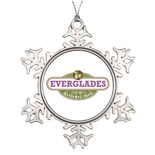 (Snowflake Ornament Christmas Snowflake Ornaments Vacation Personalised Christmas Tree Decoration Family Snowflake Ornament Everglades National Park Manatee Pine)