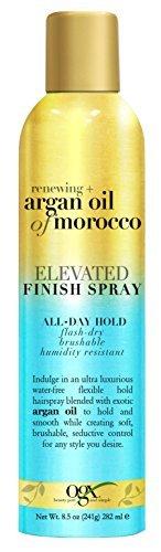 OGX Renewing Argan Oil Of Morocco Elevated Finish Spray Medium Hold 8.5oz (6 Pack) by (OGX) Organix