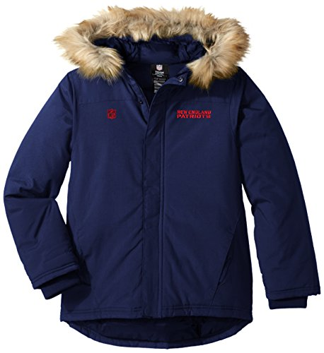 Outerstuff NFL Youth Boys Recon Heavyweight Parka Jacket-Dark Navy-M(10-12), New England Patriots