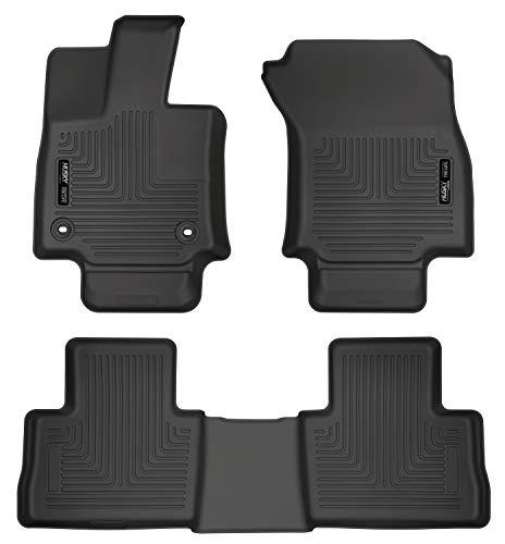 Toyota Floor Liners - Husky Liners 95501 Black Front & 2nd Seat Floor Liners Fits 2019 Toyota RAV4-not Hybrid