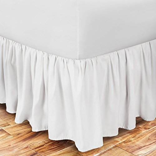 Zen Home Luxury Ruffled Bed Skirt - 1500 Series Luxury Brushed Microfiber w/ Bamboo Blend Treatment - Eco-friendly, Hypoallergenic Dust Ruffle w/ 15