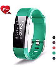 EFOSHM Fitness Tracker mit Pulsmesser, Wasserdicht IP67, Fitness Armband Uhr Aktivitätstracker Pulsuhren Bluetooth, Smart Armbanduhr Schrittzähler