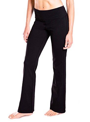 Yogipace 27''/28''/29''/30''/31''/32''/33''/35''/37'' Inseam,Petite/Regular/Tall, Women's Bootcut Yoga Pants Long Workout Pants, 28'', Black Size XXL by Yogipace (Image #1)