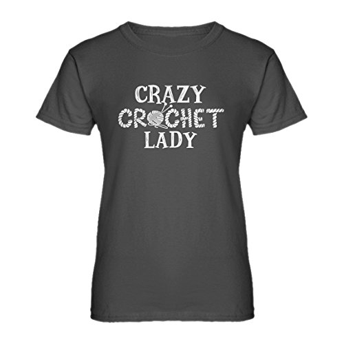 (Indica Plateau Womens Crazy Crochet Lady Small Charcoal Grey T-Shirt)