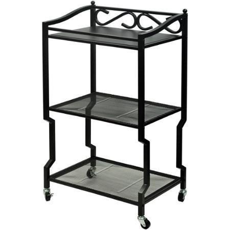 Chapter 3-Shelf Bathroom Storage Cart, Oil-Rubbed Bronze Finish