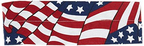 (Zan Headgear Cooldanna, Distinct Name: Wavy American Flag, Primary Color: Red, Gender: Mens/Unisex, Size: OSFM DC265)