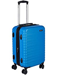 AmazonBasics Hardside Spinner Luggage, 20-inch Carry-on/Cabin Size, Light Blue
