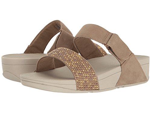 FitFlop Womens Lulu Slide Sandal Desert Stone