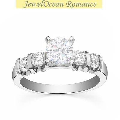 0,58 quilates anillo de compromiso de corte redondo con barato del diamante en 18