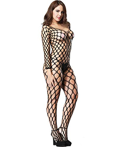 - LemonGirl Sexy Fishnet Bodystockings Lingerie for Women Open Crotchless Bodysuit Stockings Free Size