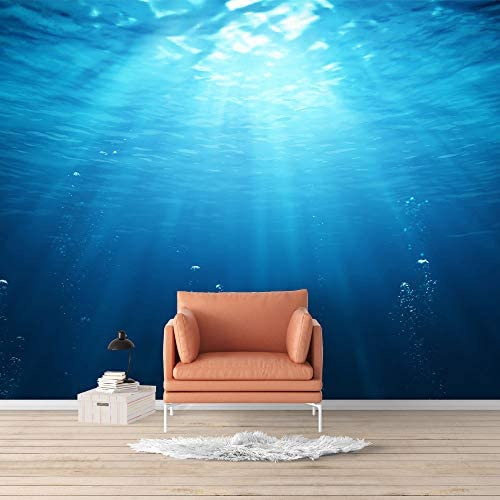 Wall Mural Blue Ocean Deep Sea Removable