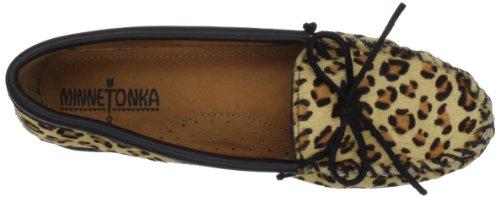 Minnetonka Full Leopard Moc - Mocasines de cuero mujer multicolor - Multicolore - Mehrfarbig (Leopard)