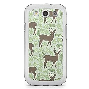 Spring Deers Pattern Samsung Galaxy S3 Transparent Edge Case - Animal Patters Collection