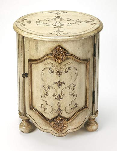 Butler Specialty Company 4001238 Kenwood Gilted Drum Table, Cream