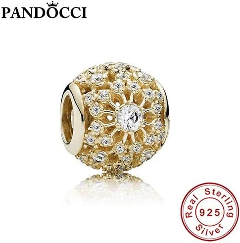 Color: Multi Pukido 100/% 925 Sterling Silver 750838CZ Charm Element Gold Bead European Ladies Jewelry Original Manufacturers