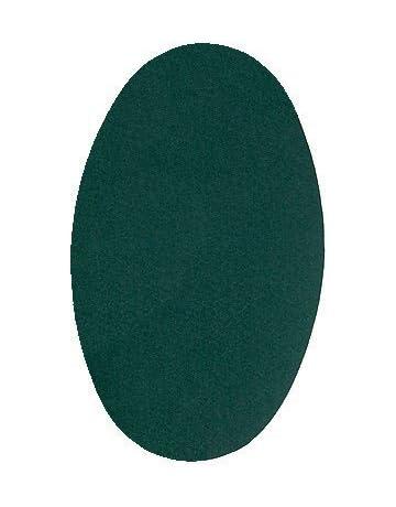 Haberdashery Online 6 Rodilleras TERMOADHESIVAS Verde Botella Color 26. Rodilleras para Proteger Pantalones