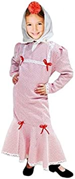 Disfraz Chulapa niña Blanco Lunar Rojo (2 años): Amazon.es: Juguetes y juegos