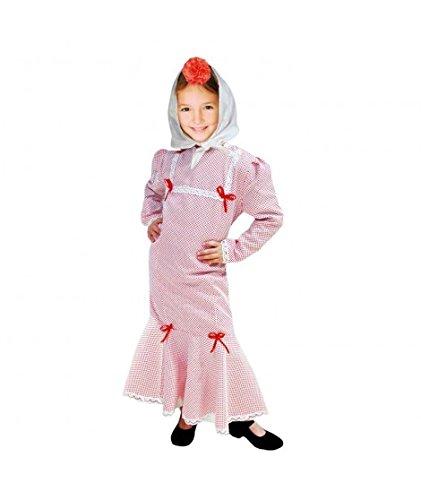 Disfraz Chulapa niña Blanco Lunar Rojo (8 años): Amazon.es ...