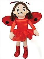 MerryMakers Ladybug Girl Plush Doll, 10-Inch
