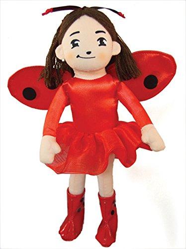 MerryMakers Ladybug Girl Plush 10 Inch