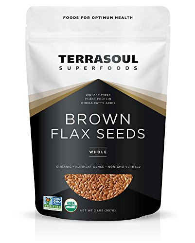 Flax Foods Seed Organic (Terrasoul Superfoods Organic Brown Flax Seeds, 2 Pound)