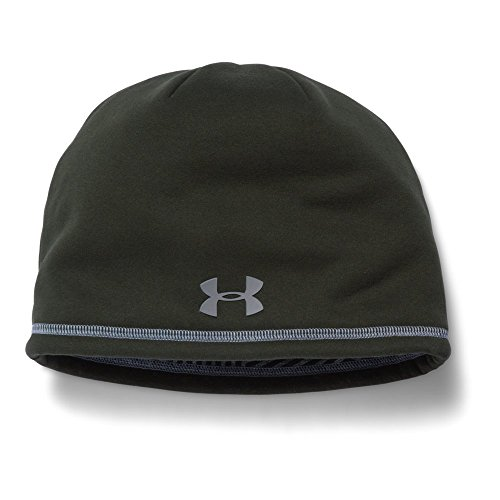 Under Armour Men's Storm ColdGear Infrared Elements 2.0 Beanie, Artillery Green/Steel, One Size