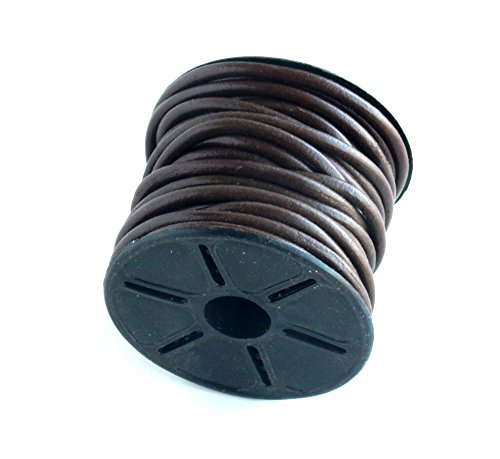 4MM Leather Cord 10 Meters Chocolate Brown - Leather Braiding Supplies