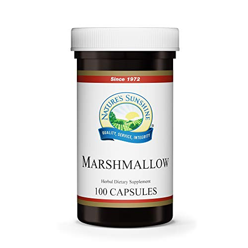 Nature's Sunshine Marshmallow, 100 Capsules, Kosher   Marshmallow Root Naturally Provides Demulcent Effects on The Digestive and Respiratory Systems