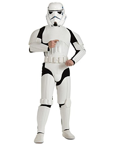[Star Wars Stormtrooper Costume Movie Theatre Costumes SciFi Fantasy Men Costume Sizes: One Size] (Storm Halloween Costume Ideas)