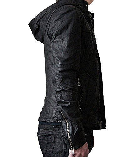 Mission Impossible Ghost Protocol Hooded Movie Jacket - Ethan Hunt MI4 Leather Jacket Christmas Gift (XS) by BlingSoul (Image #2)