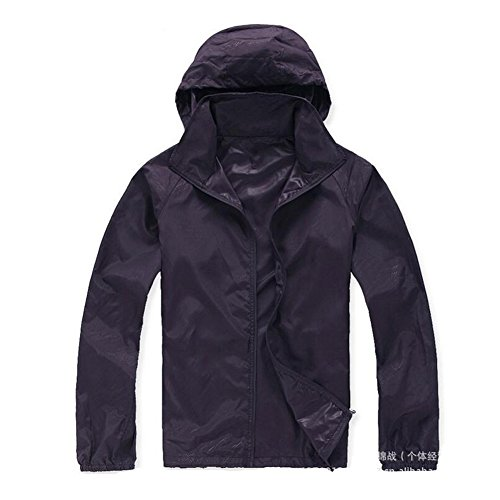 Meijunter Unisex Sun Protection Rapid Outdoor Sports Skin Clothing Kleidung Hooded Jacket Slim Mäntel Coat Purple