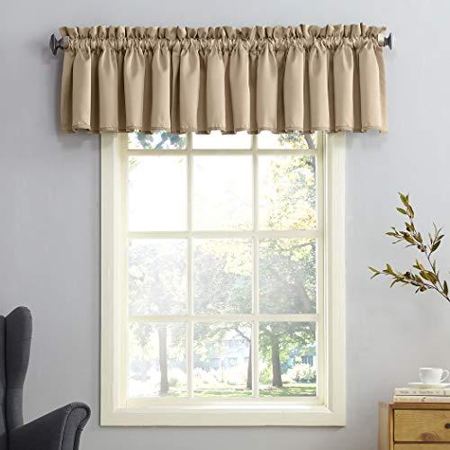 (Sun Zero Barrow Energy Efficient Rod Pocket Curtain Valance, 54