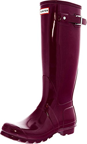 Hunter Women's Original Tall Gloss Violet Shoe - Purple Tall Shoes