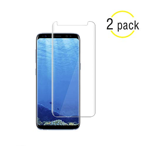 NiceFuse Compatible [2 Pack] Samsung Galaxy S8 Screen Protector,NiceFuse [9H Hardness][Anti-Scratch] [Anti-Fingerprint][3D Curved] [Ultra Clear] Tempered Glass Screen Protector Compatible S8 Clear