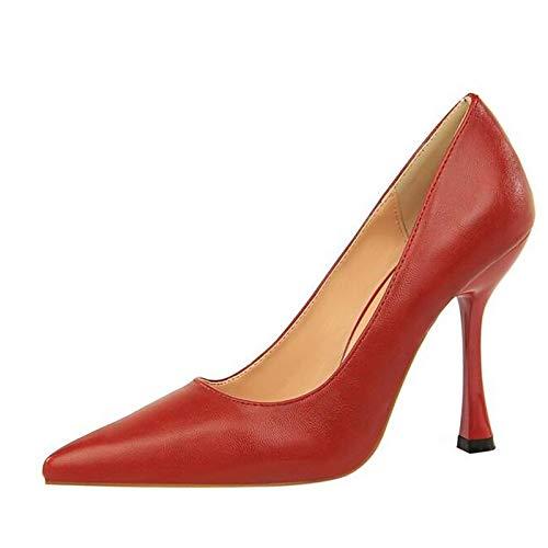 Tacones Zapatos Rosa Talón Mujer De Primavera Stiletto Negro QOIQNLSN Red Comodidad Rojo OXfHqafw