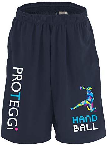 (プロテッジ) PROTEGGi ポリゴンスタイルなシルエットの HANDBALL ドライハーフパンツ