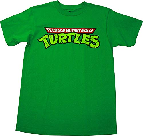 Teenage Mutant Ninja Turtles Logo Men's T-Shirt, Green, Small ()