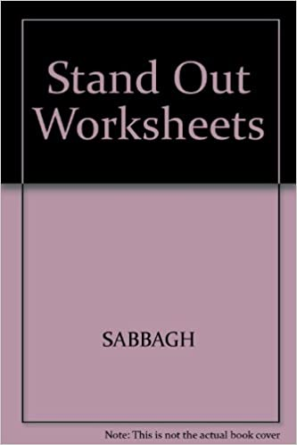 Stand Out Level 1 Activity Bank Worksheets: SABBAGH, JENKINS ...