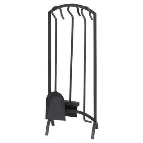 Panacea Products Corp 15959 4-piece Arch Top Black Fireplace Tool Set