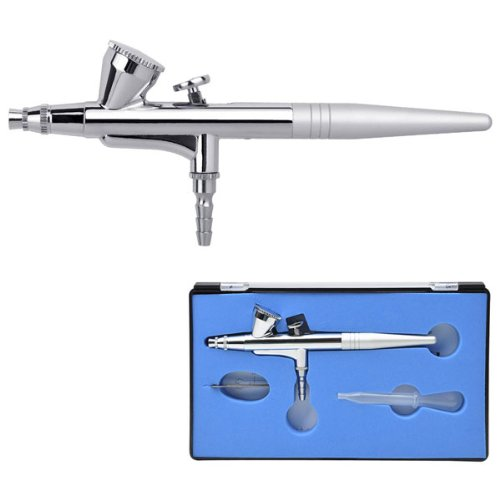 Professional 0.4mm Nozzle Single Action Gravity Feed Airbrush by AV Prime Inc.