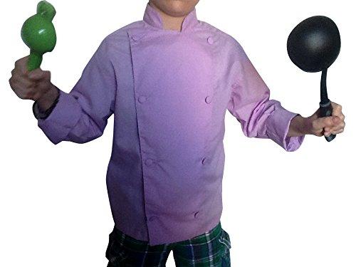lavender chef coat - 3