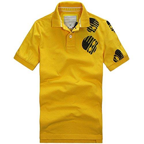 HYDROGEN ポロシャツ メンズ ゴルフ 鹿の子 綿 100% 半袖 夏 大きいサイズ 7574 [並行輸入品]